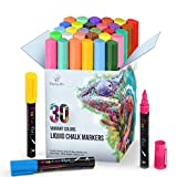 Liquid Chalk Markers 30 Colors By Positive Art: Bright Colors, Painting and Drawing For Kids and Adults, Window and...