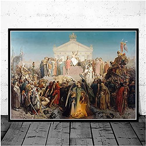 HHGGF Serie de Pinturas en Lienzo más Famosa del Mundo, Pintor francés Jean Leon Gerome, Carteles Impresos, Imagen artística de Pared para Sala de estar-50x75CM sin Marco
