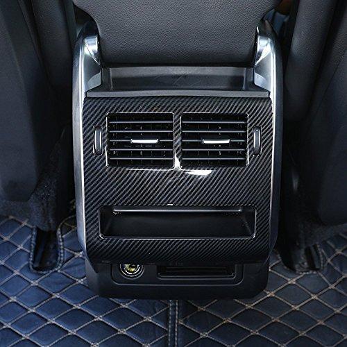 ABS en Plastique Arrière Rangée Climatisation Sortie Couvercle Évent Cadre Garniture De Voiture Accessoire Style de Fibre de Carbone pour Range Rover RR Sport 2014-2017