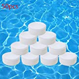50Pcs Chlorinating Tablets, Effectively Long Lasting Swimming Pool Chlorine Tablets Spa Cleaning Tablets