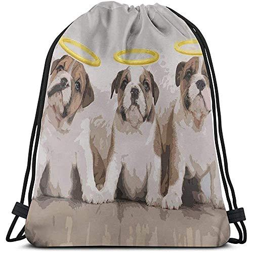 BOUIA Gym Kordelzug Taschen, Olde English Bull Dogs Tote Rucksack Sackpack Gym Sack Tasche für Wanderungen Yoga Handtücher Aufbewahrungstasche