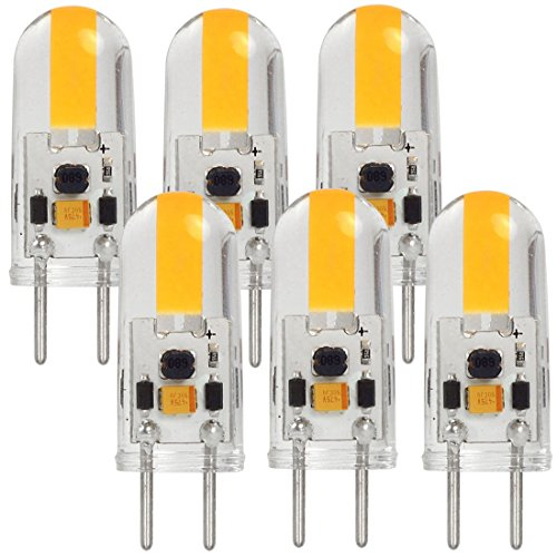 MENGS 6 Stück GY6.35 COB LED Lampe 3W AC/DC 12V Warmweiß 3000K Mit Silikon Mantel