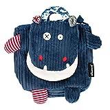 Les Déglingos  - Hippipos l'Hippopotame - Sac à dos pour enfants maternelle - Peluche - Tissu Doux...