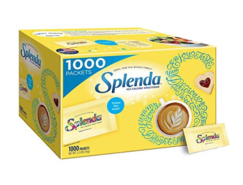 Splenda No Calorie Sweetener Value Pack, 1000 Individual Packets, 2.2 lbs,1000 Count (Pack of 1)