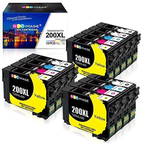 GPC Image Remanufactured Ink Cartridge Replacement for Epson 200XL 200 XL T200XL to use with WF-2540 WF-2530 WF-2520 XP-310 XP-300 XP-200 XP-400 Printer (4 Black, 3 Cyan, 3 Magenta, 3 Yellow)