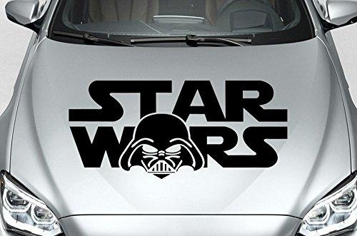 Star Wars Sticker Aufkleber in ihrer Wunschfarbe - Auto Folien ca.80cm X 35cm (Schwarz)