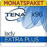 Tena Lady Extra Plus, Monats-Paket mit 96 Einlagen (6 Packungen je 16 Einlagen)