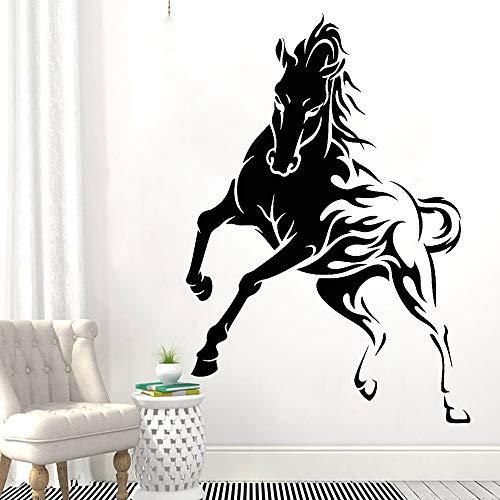 Mooie paard muursticker kantoor raamdecoratie hengst dier rasechte vinyl muur sticker school klas decoratie