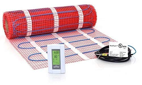 40 sqft Mat Kit, 120V Electric Radiant Floor Heat Heating System w/Aube Programmable Floor Sensing Thermostat