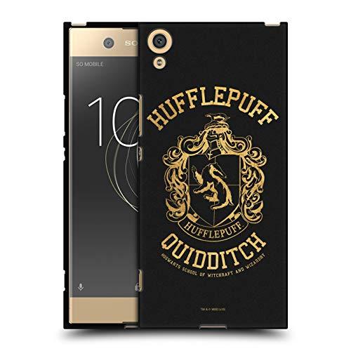 Head Hülle Designs Offizielle Harry Potter Hufflepuff Quidditch Deathly Hallows X Schwarze Soft Gel Huelle kompatibel mit Sony Xperia XA1 Ultra/Dual