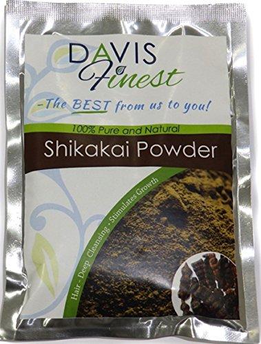 Davis feinstem Shikakai Akazien concinna Samenpulver Seife Pod–Natürliches Seife Shampoo und Deep Cleansing Conditioner Brilliant Haar Glanz und Wachstum Behandlung (100g)