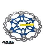 Newgoal Disco de Freno de Disco de Bicicleta, 160mm Bicicleta de montaña Flotante Disco de Freno Centro de Bloqueo Accesorios de Bicicleta(Azul)