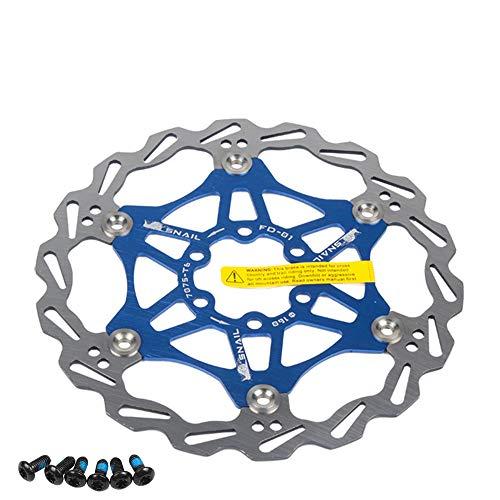 Newgoal Fahrradscheibe Bremsscheibe, 160mm Fahrradbremsscheibe Mountainbike Schwimmbremse Scheiben Center Lock Fahrradzubehör(Blau)
