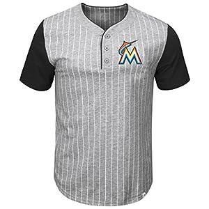 c8a64528 VF Miami Marlins MLB Mens Majestic Life Or Death Pinstripe Henley Shirt  Gray Big & Tall SizesVF Miami Marlins MLB Mens Majestic Life… $28.99$28.99