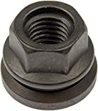Dorman 611-196 Wheel Nut M14-2.0 Flanged Flat Face - 21mm Hex, 22.6mm Length for Select Ford / Lincoln Models - Black Oil Quench, 10 Pack