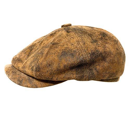 WEROR Gorra de piel para hombre 40380 marrón 59