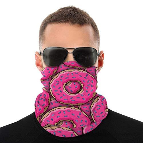 Bandeau, Donut Donut motif rose élastique sans couture Bandana écharpe, UV résistance Sport chapeaux série randonnée équitation moto
