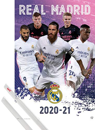 1art1 Fútbol Póster (91x61 cm) Real Madrid 2020/2021 Group Poster Y 1...
