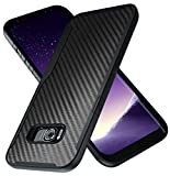 Kitoo Designed for Samsung Galaxy S8 Plus Case, Carbon Fiber Pattern, 10ft. Drop Tested, Wireless Charging - Black