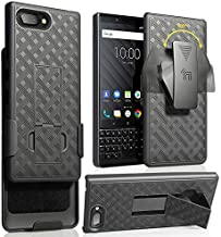 Sponsored Ad - Case with Clip for BlackBerry KEY2, Nakedcellphone Black Kickstand Cover with [Rotating/Ratchet] Belt Hip H...