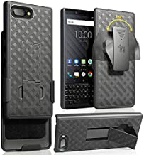 BlackBerry KEY2 Case with Clip, Nakedcellphone Black Kickstand Cover with [Rotating/Ratchet] Belt Hip Holster Combo for BlackBerry KEY2 Phone, Key 2 (BBF100-1, BBF100-6)