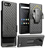 Case with Clip for BlackBerry KEY2, Nakedcellphone Black