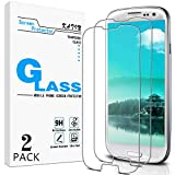 KATIN Galaxy S3 Screen Protector - [2-Pack] For Samsung Galaxy S3 III i9300 Tempered Glass Bubble free, 9H Hardness with Lifetime Replacement Warranty