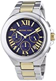 Michael Kors Women's Camille Two Tone Bracelet Blue Dial Watch MK5758
