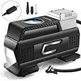 Merece Tire Inflator Portable Air Compressor - Cordless Car Tire Air Pump Rechargeable Air Compressor for Car Tires Motorcycle Bike Other Inflatables, Quiet Digital Tire Inflator with Pressure Gauge