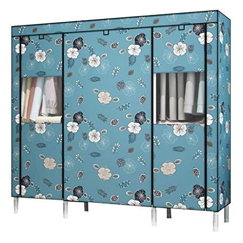 LJP Armario simple de tela de tubo de acero para dormitorio, armario portátil, ahorra espacio para guardar ropa y armario (color: B, tamaño: 167 x 45 x 175 cm)