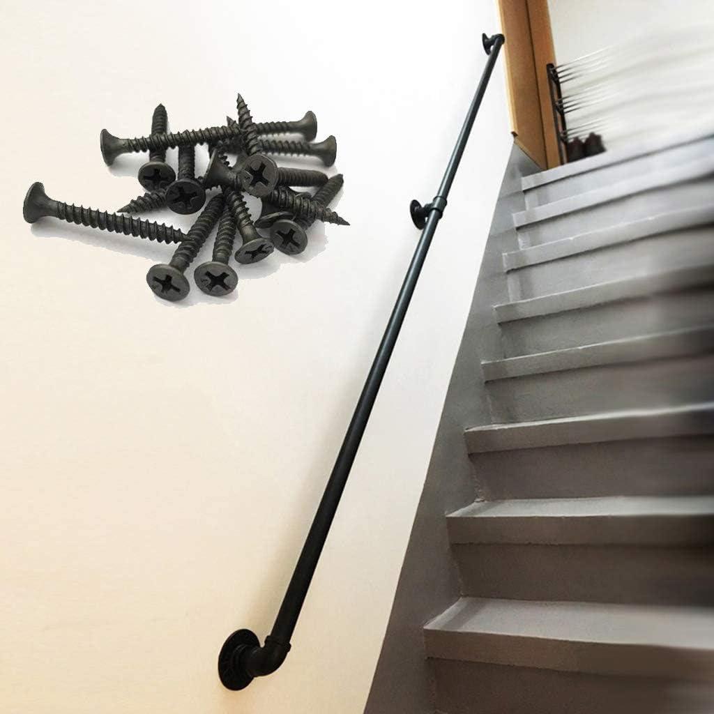 オンライン限定商品 Handrail 1ft-20ft Black Wrought 売却 Pipe Water Iron Design
