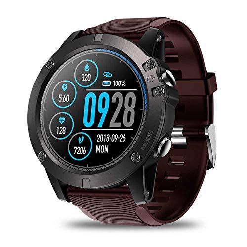1,3-Zoll-IPS-Touchscreen-Smartwatch Männer Echtzeit-Wetter Optische Pulsuhr Tracking Sports Smartwatch, Rot