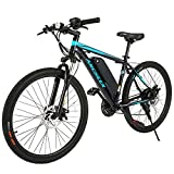 ANCHEER Electric Bike Commuter EBike 350W 26'' Electric Mountain Bike, 20MPH Adults Ebike with...