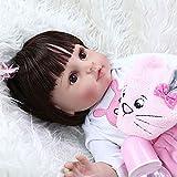 48CM Popular Muy Suave, Flexible, de Cuerpo Completo, Silicona, muñeca Bebe, niña renacida con Vesti...