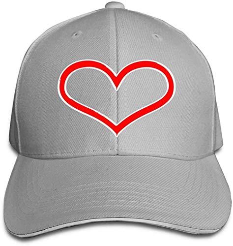 ZYZYY - Berretto da baseball unisex a forma di cuore, regolabile, con visiera