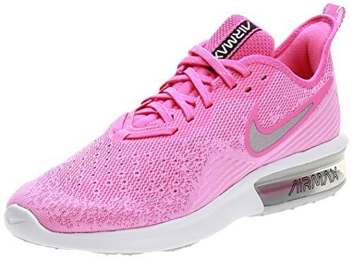Nike Damen WMNS Air Max Sequent 4 Leichtathletikschuhe, Mehrfarbig (Laser Fuchsia/Metallic Silver 601), 38 EU