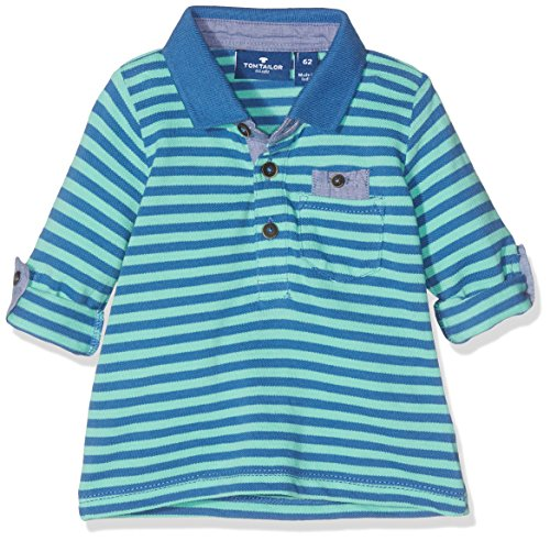 TOM TAILOR GmbH TOM TAILOR Kids Baby-Jungen Striped piqué Polo Poloshirt, Türkis (Vivid Mint 7780), 68