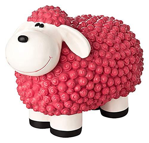 incubado Mini Schaf Molly Deko-Figur Gartenfigur, Gartendekoration für den Garten Außen-Bereich, klein (pink)