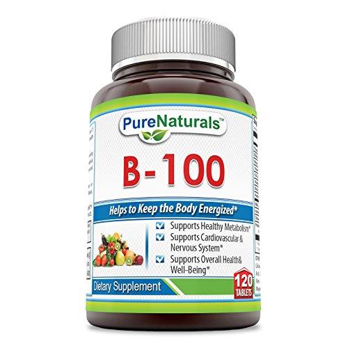 Pure Naturals B-100 Complex Tablets, 120 Count