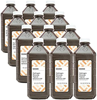 12-Pack Amazon Brand Solimo Hydrogen Peroxide Topical Solution USP