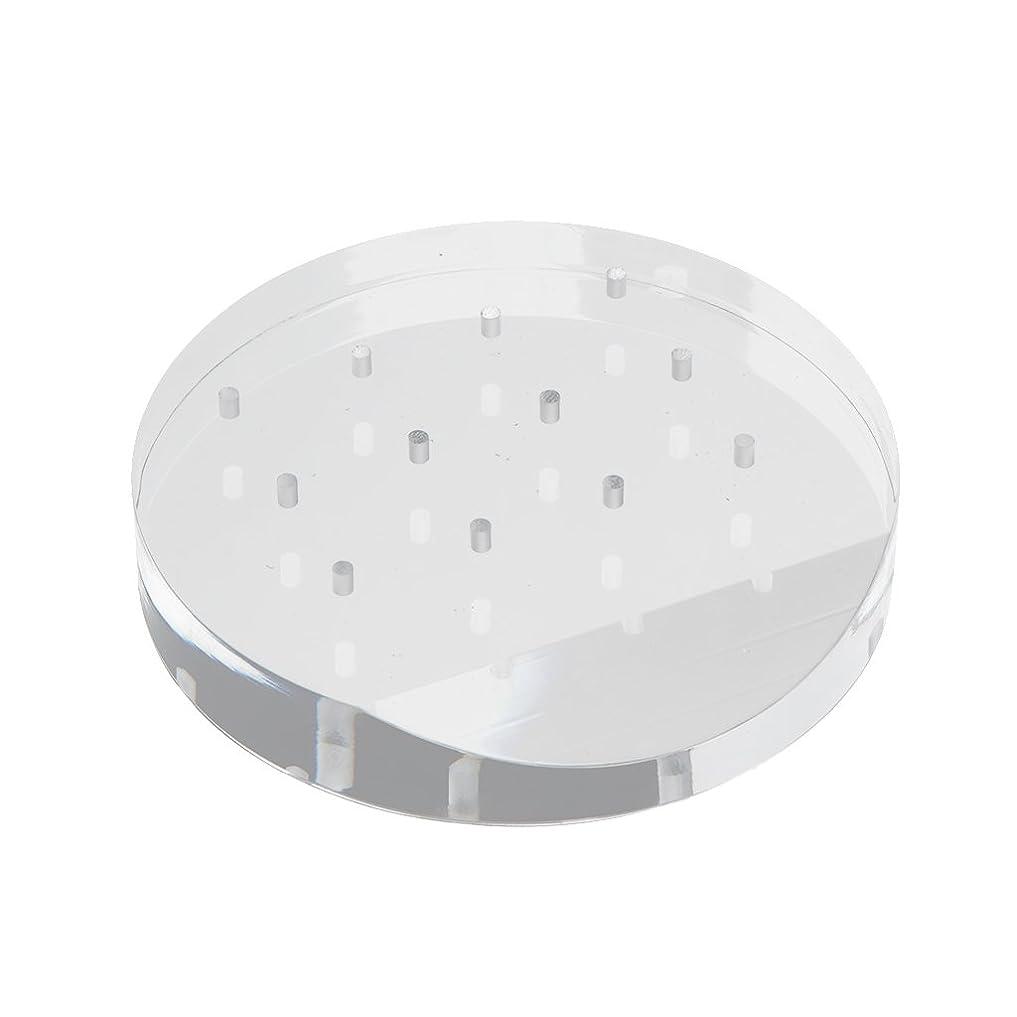 療法一般的な水陸両用ネイルドリルビットホルダー スタンド アクリル 12穴 マニキュア ネイル ホルダー 収納オーガナイザー