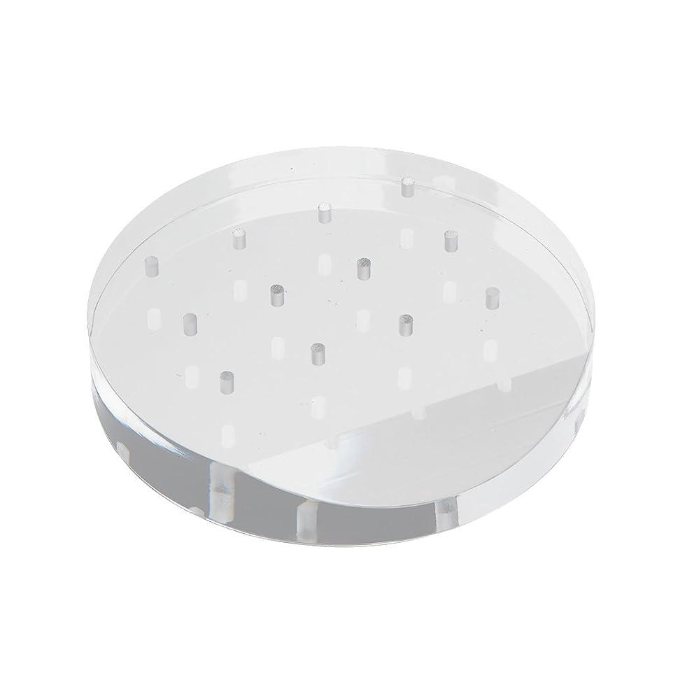通貨フェロー諸島北東GRALARA ネイルドリルビット ホルダー スタンド アクリル 高品質 12穴 収納 オーガナイザー 透明 便利