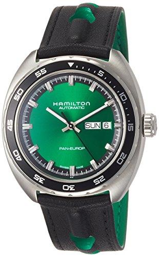 Hamilton Herren-Armbanduhr 42mm Armband Leder Schwarz Automatik H35415761