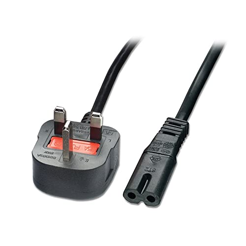 LINDY Mains Power Lead (Fig. 8) UK 3 Pin Plug Black 2m