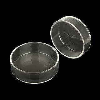 Senzeal 2X Aquarium Glass Shrimp Feeding Dish Bowls Reptiles Water Food Dish Feeder Bowl