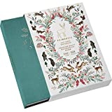Primrosia A5 Dot Grid Watercolor Journal Notebook – 160 Pages I 160gsm Premium Heavy Paper, No Bleed – Luxe Linen Hard Cover with Cute Deer Slip Cover (Woodlands Teal)