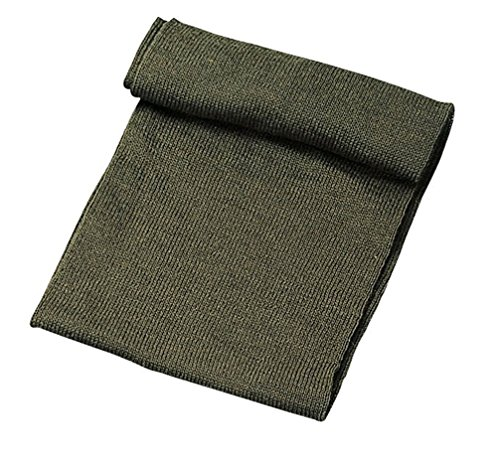 Genuine Knitted 100% Wool Scarf, US Made, OD Green