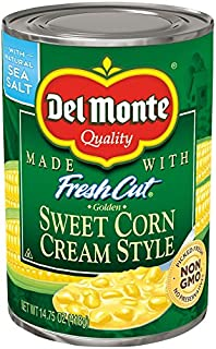 Del Monte Canned Fresh Cut Golden Sweet Cream Style Corn, 14.75-Ounce (Pack of 24)
