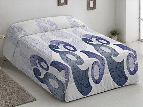 Camatex - Conforter Ines Cama 150 - Color Malva (edredón de Acolchado Grueso época de frío con Cintas y Botones como Sistema de Ajuste)