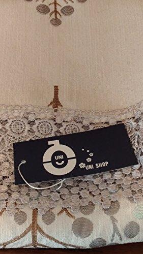 UNIピアノカバーアップライトピアノピアノトップトップカバー防塵カバー【北欧風ツリー刺繍】田舎風レース縁取り(ブルー)